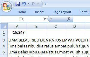 Terbilang Excel