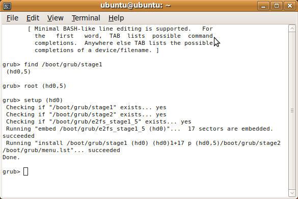 Perbaiki Grub Ubuntu