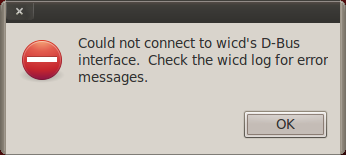 error message wicd